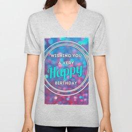 Happy Birthday Unisex V-Neck