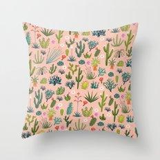 Arizona Cacti Throw Pillow