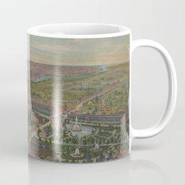 Vintage Pictorial Map of Philadelphia PA (1876) Coffee Mug