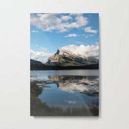 Reflections on the water; Vermillion Lakes, Banff Alberta Canada Metal Print