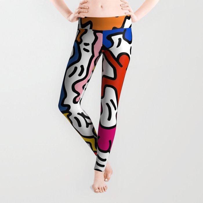 Homage to Keith Haring Acrobats II Leggings