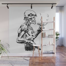 Military zombie - Skull military - zombie illustration Wall Mural
