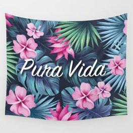 Pura Vida Floral Composition Wall Tapestry