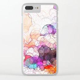 Geometric / Circular Landscape Art Clear iPhone Case
