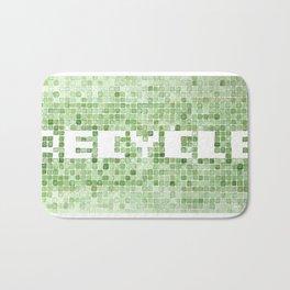Recycle watercolor mosaic Bath Mat