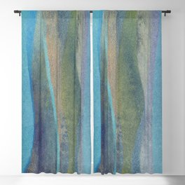 abstract marine composition Blackout Curtain
