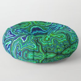 Abstract #1 - IV - Neon Jungle Greens Floor Pillow