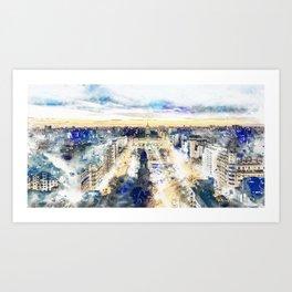 Buenos Aires watercolor Art Print