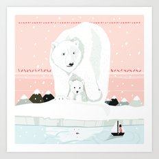 The White Bears and the Tin Soldier Art Print