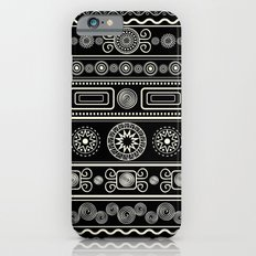 Black & White Boho Geometric iPhone 6s Slim Case