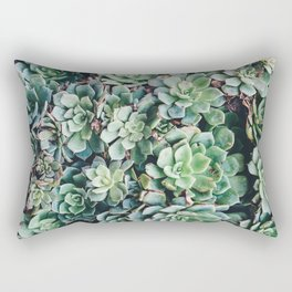 Succulent cactus aloe plants succulents nature photo Rectangular Pillow