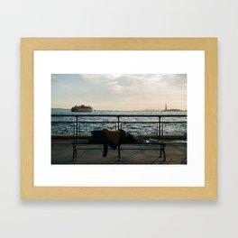 Battery Park Sleeper Framed Art Print