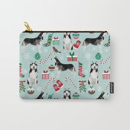 Siberian Husky christmas festive holiday gifts for husky owners by pet friendly Carry-All Pouch