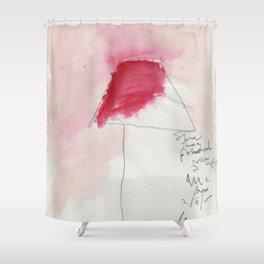 red lamp (for kari) Shower Curtain