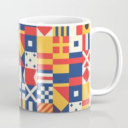 Maritime Nautical Signal Flags Coffee Mug