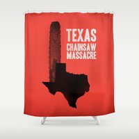 gore Shower Curtains featuring Texas Chainsaw Massacre by Wharton