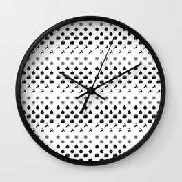 Christmas Pattern v2 Wall Clock