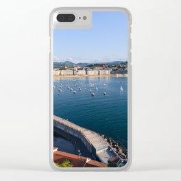 La Concha Bay. Donostia-San Sebastian, Spain. Clear iPhone Case