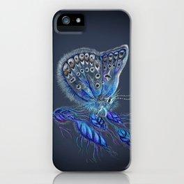 Love Lorn Butterfly-Blue & Navy Palette iPhone Case