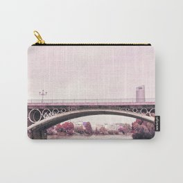 Pink mood at Triana Bridge Carry-All Pouch