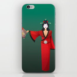 Vector Geisha (Turning Japanese) iPhone Skin