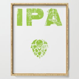 IPA Lot When I Drink Craft Beer Distressed Serving Tray