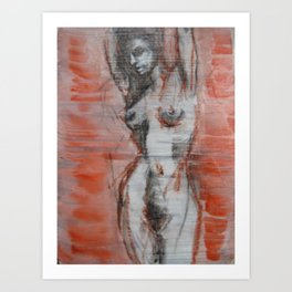 untitled (female figure) Art Print