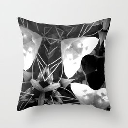 Plant Life After Dark Throw Pillow