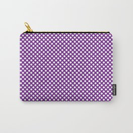 Seance and White Polka Dots Carry-All Pouch