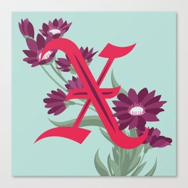 Letter 'X' is for Xeranthemum Canvas Print