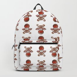 Rudolph the Red-Nosed Reindeer Pattern - White Backpack