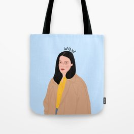 An Unimpressed 'wow' Tote Bag
