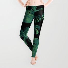 Tropical Monstera Pattern #4 #tropical #decor #art #society6 Leggings