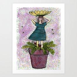 Flowergirl4 Art Print