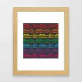 Rainbow Brownstones Framed Art Print