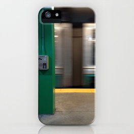 Train passing by iPhone Case