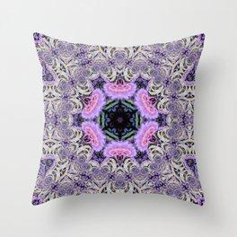 Purple and Lace Mandala Throw Pillow