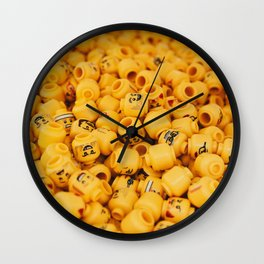 legos heads Wall Clock