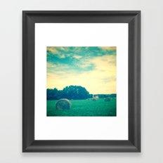 Summer Hay Field Framed Art Print