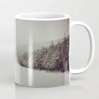 montana Mugs featuring Montana Pines by Warren Silveira + Stay Rustic