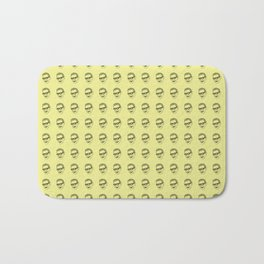 Jeff Goldblum Pattern Gold Bath Mat