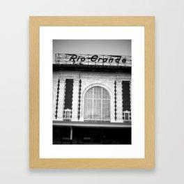 Rio Grande Train Station Framed Art Print