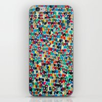 it crowd iPhone & iPod Skins featuring crowd by danielrcart