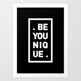 YOU AND YOURSELF (BLK) Art Print