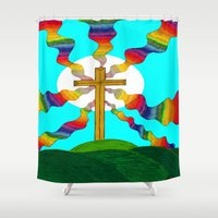 book cover Shower Curtains featuring Book cover by Carrollskitchen on youtube