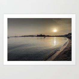 Bodrum Bay Sunset Art Print