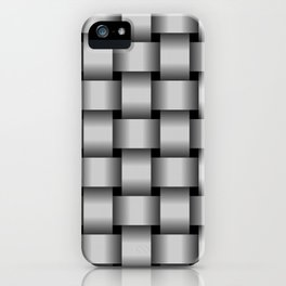 Large Light Gray Weave iPhone Case