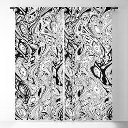 Abstract pseudorganic tissue Blackout Curtain