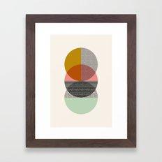 Three's a crowd Framed Art Print
