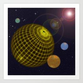 3D Planets Art Print